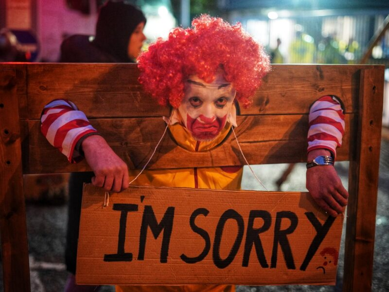 Animal Rebellion blockades McDonald's distribution centres across the UK